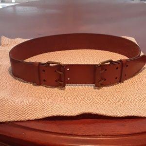 Loft brown leather belt